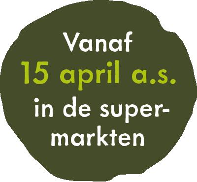 Vanaf 15 april in de supermarkten